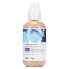 Коллагеновый тональный крем с эффектом сияния   Collagen Water Full Moist Luminous Foundation №21   SPF15   FarmStay