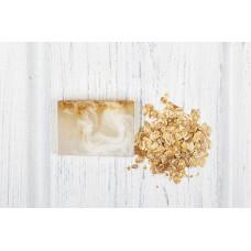 Глицериновое мыло ручной работы  МОЛОЧНЫЙ ПАЙ  козье молоко, овсяные хлопья, экстракт ванили  100g Кафе Красоты